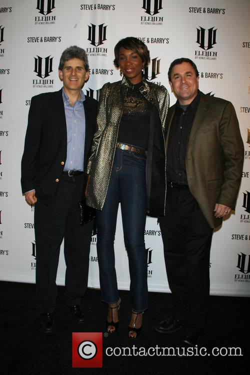 Steve and Barry with Venus Williams Launch party...
