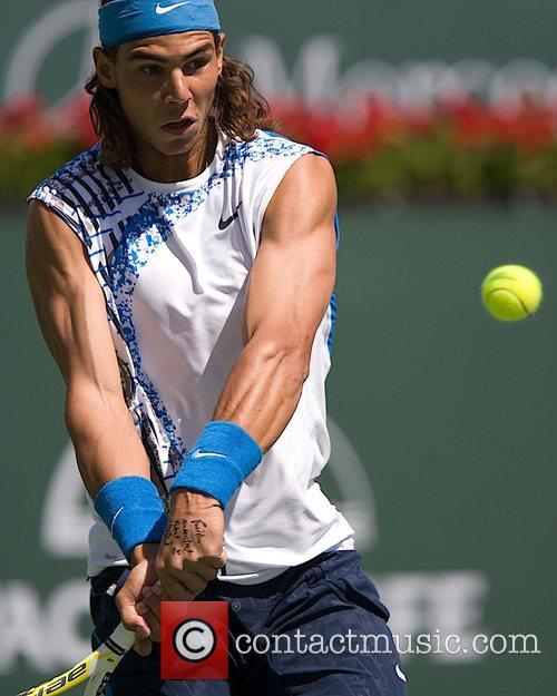 Novak Djokovic plays Rafal Nadal Pacific Life Open...