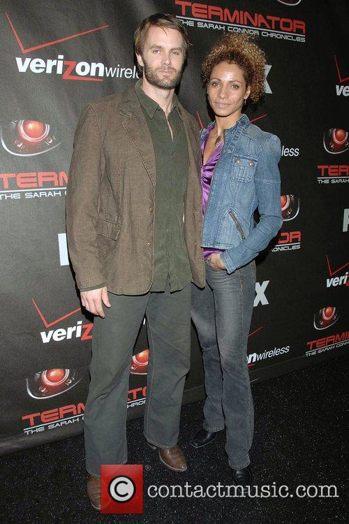 Garret Dillahunt and guest Premiere of 'Terminator: The...
