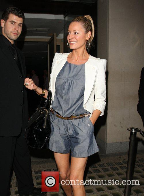 A smilingTess Daly leaving Nobu Berekely. London, England