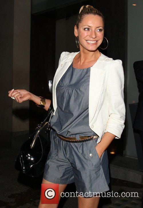 A smilingTess Daly leaving Nobu Berekely.