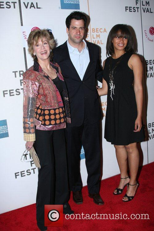 Jane Fonda, Her Son Troy Garritty and His Wife 3