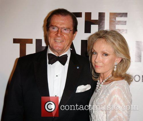 Roger Moore and his wife Christina Tholstrup Thalians...
