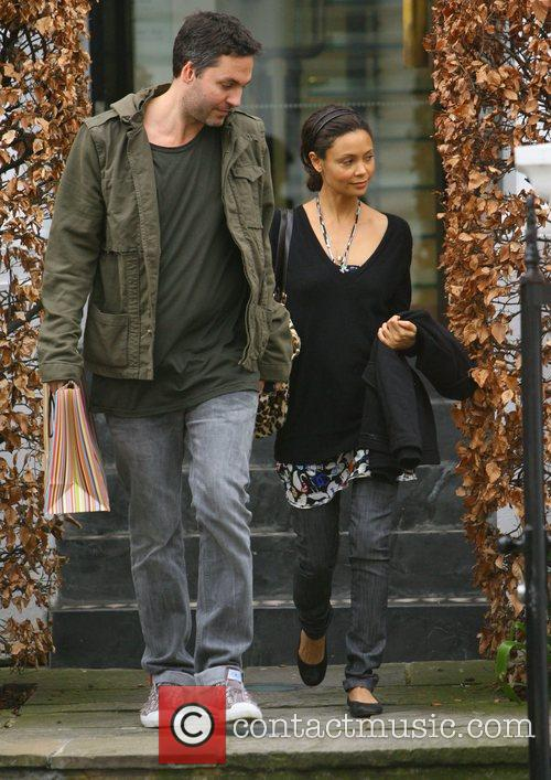 Thandie Newton goes shopping in Paul Smith with...