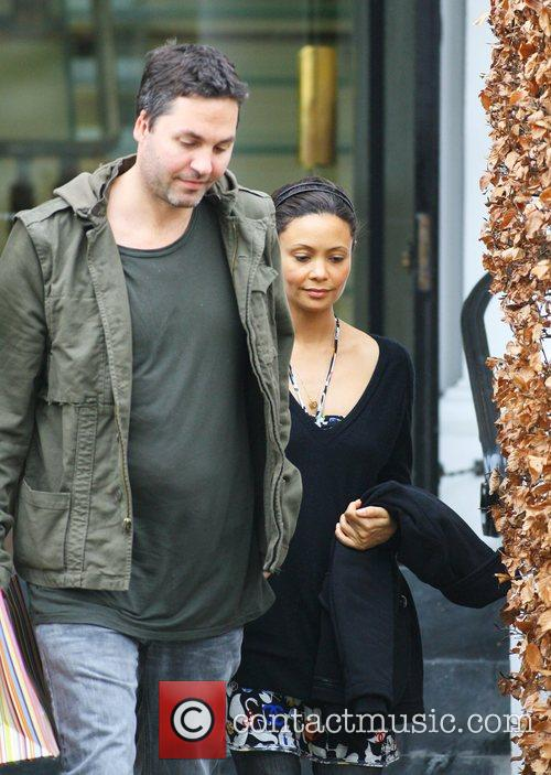 Ol Parker and Thandie Newton  out and...