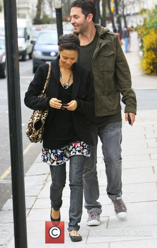 Thandie Newton and Ol Parker out and about...