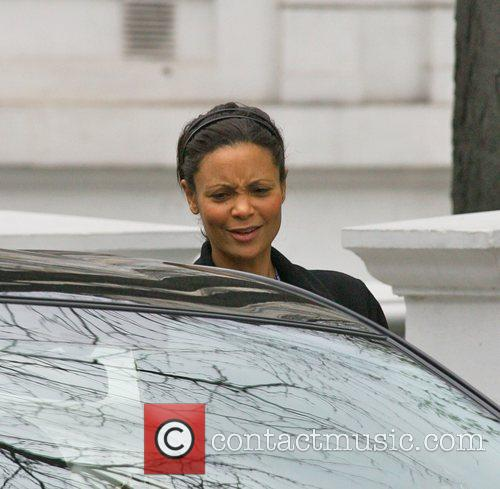 Thandie Newton  out and about shopping...
