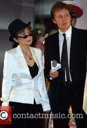 Paul McCartney and Yoko Ono Lennon The Beatles...
