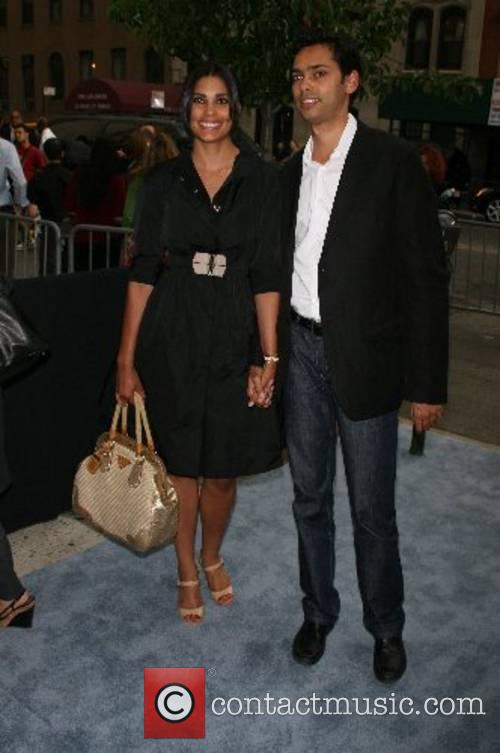 Rachel Roy and brother The Cinema Society hosts...