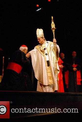Clifford Rose and Bernard Lloyd as Cardinal Villot...