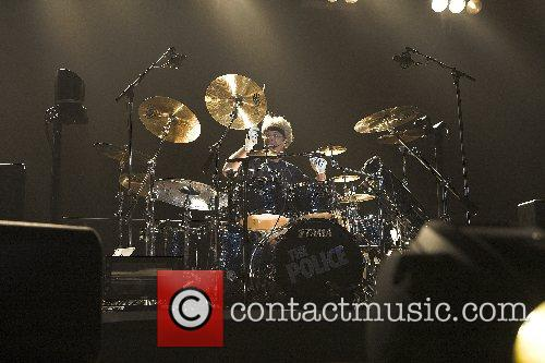 Stewart Copeland The Police perform on stage at...
