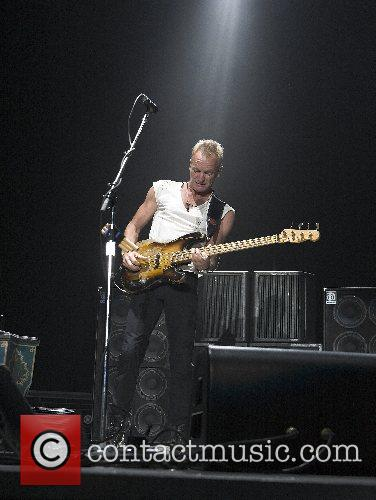 Sting (aka Gordon Sumner) The Police perform on...