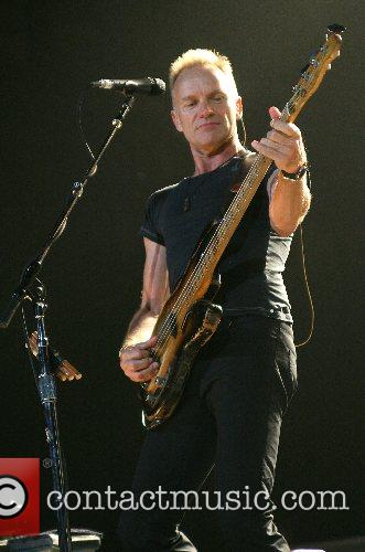 The Police performing live at The Toyota Center