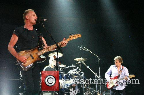The Police performing at The Toyota Center Houston,...