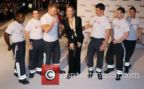 Uma Thurman and firefighters UK premiere of 'The...