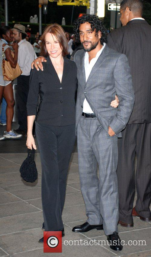 Barbara Hershey and Naveen Andrews attend the premiere...