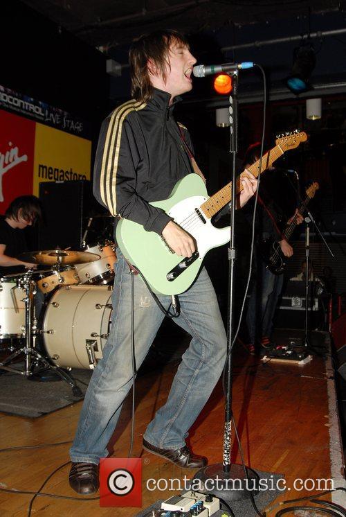 The Enemy performing at the Virgin Megastore London,...