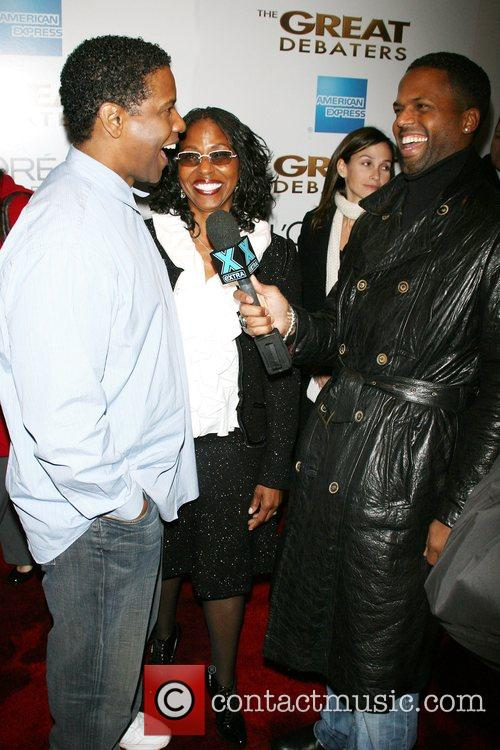 Pauletta Pearson Washington and Denzel Washington and AJ...