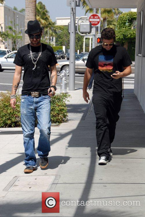 Brody Jenner spotted out walking with a friend....