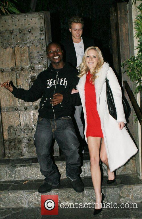 Guest, Spencer Pratt, Heidi Montag leaving Koi Restaurant...