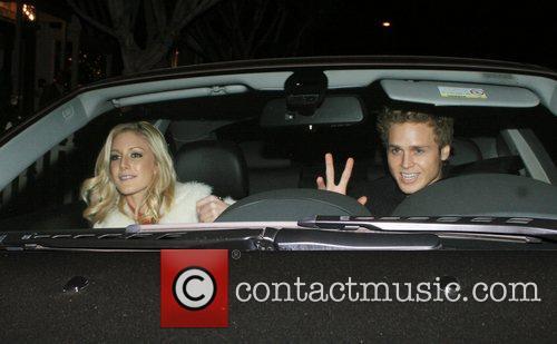 Heidi Montag and Spencer Pratt leaving Koi Restaurant...