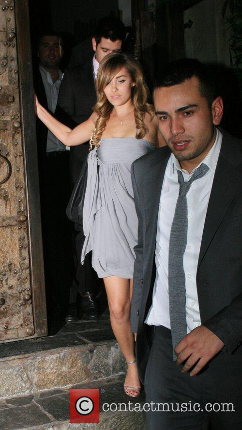 Lauren Conrad aka L.C and Frankie Delgado leaving...