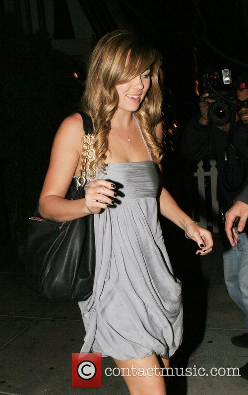 Lauren Conrad aka L.C leaving Koi Restaurant after...