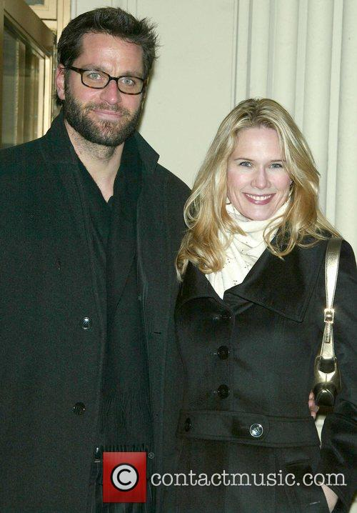 Peter Hermann and Stephanie March Opening night of...