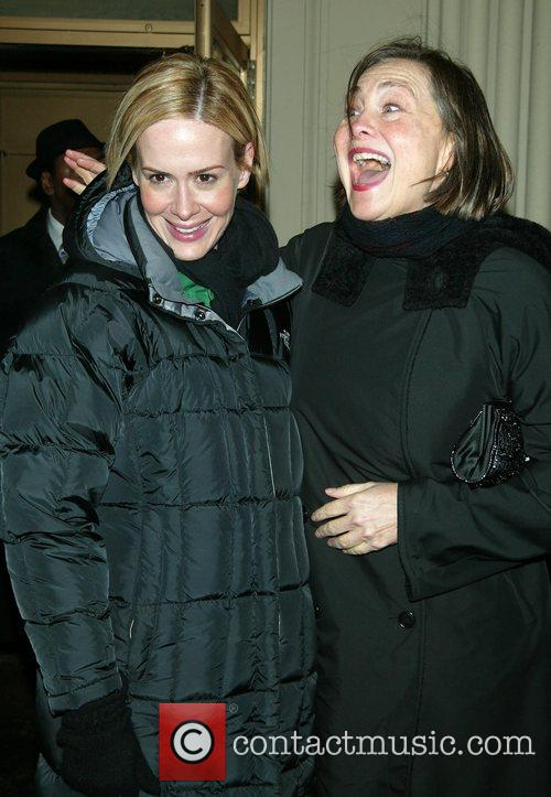 Sarah Paulson and her partner Cherry Jones Opening...