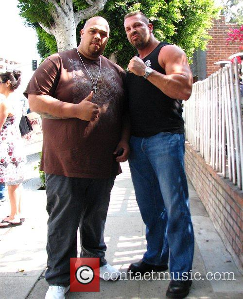 Jay Johnson on left (Club Promoter) & WWE...
