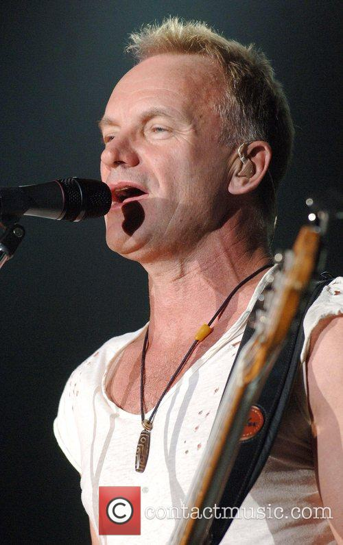 Sting The Police performs  at Wembley Arena...