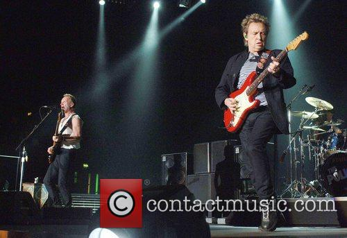 Sting, Andy Summers The Police perform at Wembley...