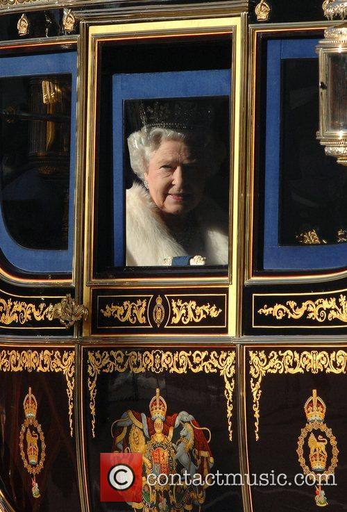 Leaves Buckingham Palace to attend the State Opening...