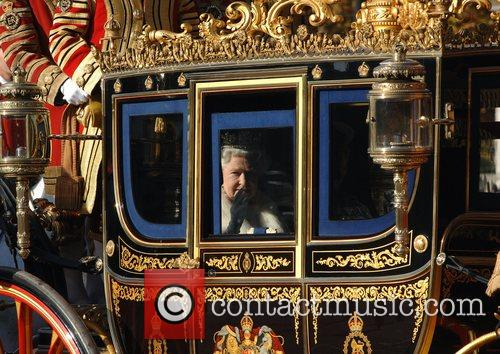 The Queen leaves Buckingham Palace to attend the...