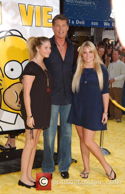 David Hasselhoff and family 'The Simpsons Movie' premiere...