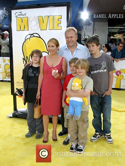 Patricia Heaton and Family 'The Simpsons Movie' premiere...