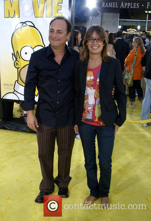 Kevin Pollack and Guest 'The Simpsons Movie' premiere...