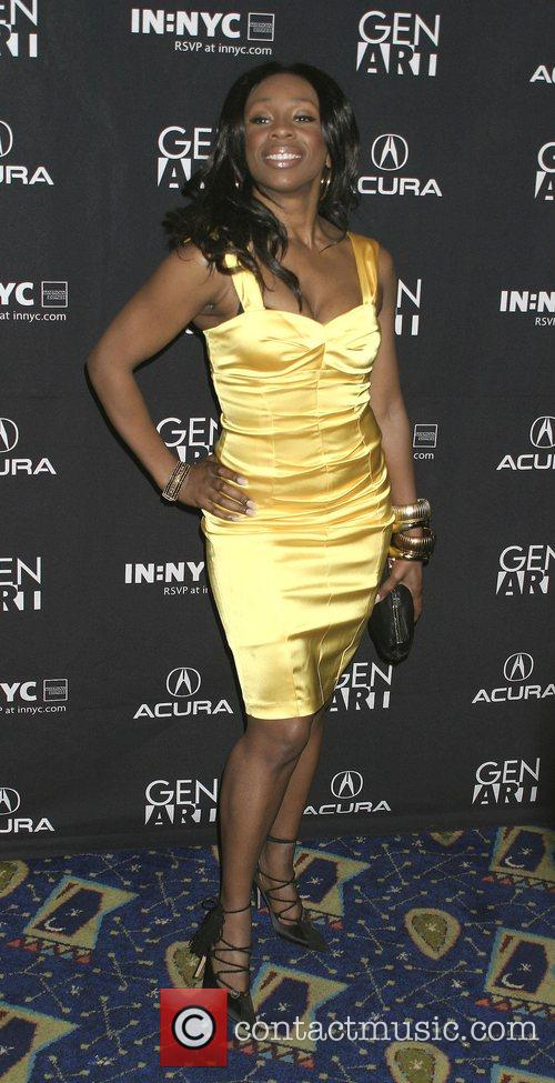 Lauretta Vaughn  attends the premiere of the...