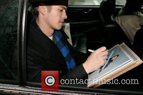 Hayden Christensen leaving ABC Studios after his appearance...