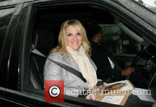 Trisha Yearwood leaving ABC Studios after her appearance...