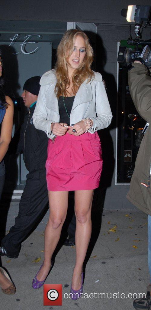 Leelee Sobieski leaving the Villa bar Los Angeles,...