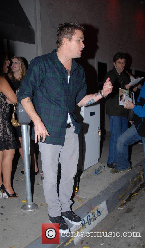 Mark McGrath leaving the Villa bar Los Angeles,...