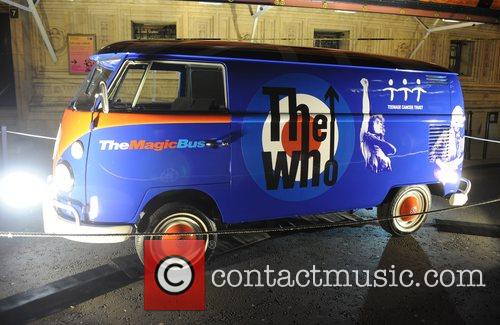 The Who's iconic Volkswagen 'Magic Bus' on display...