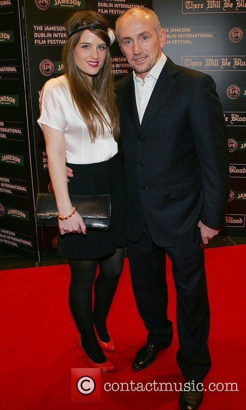 Barry McGuigan and daughter Nika McGuigan Screening of...
