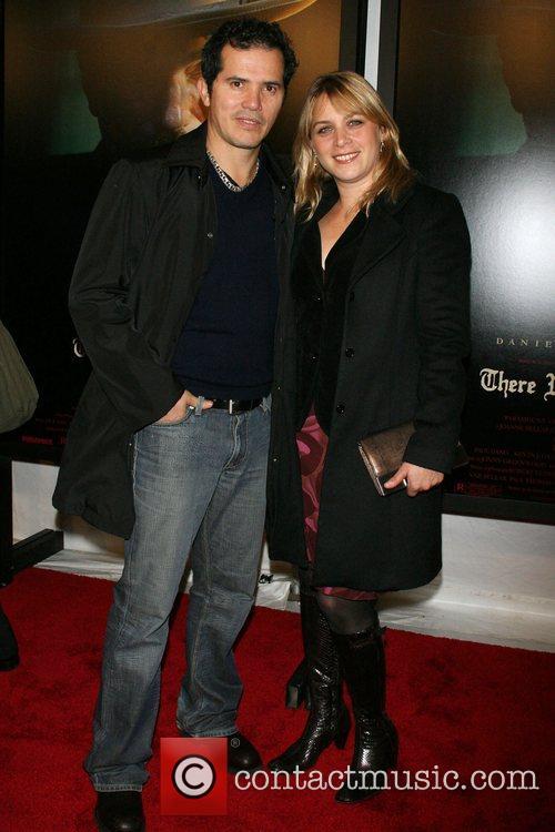 John Leguizamo and wife Justine Maurer Premiere of...