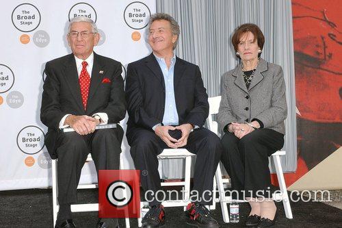 Dustin Hoffman, Edythe Broad and Eli Broad 4