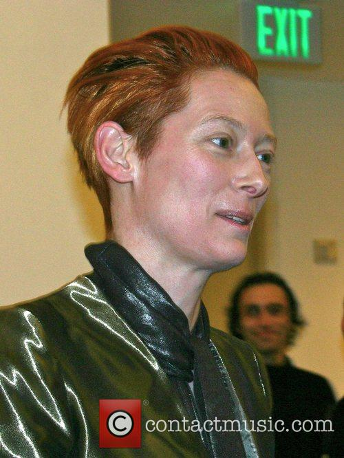 Tilda Swinton attends the Julian Schnabel Opening of...