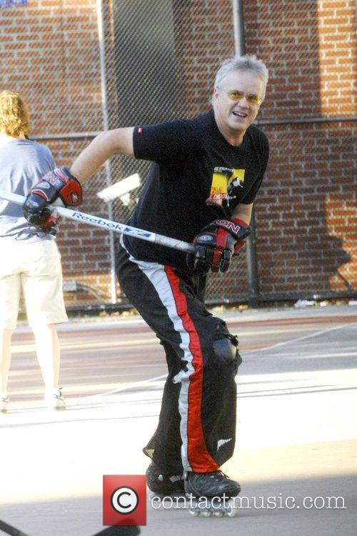 Tim Robbins plays roller hockey in the West...