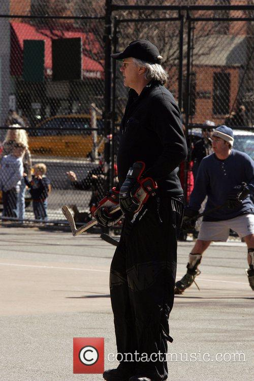 Tim Robbins playing hockey in Soho