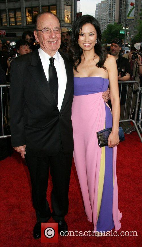 Rupert Murdoch and His Wife Wendi Deng 2